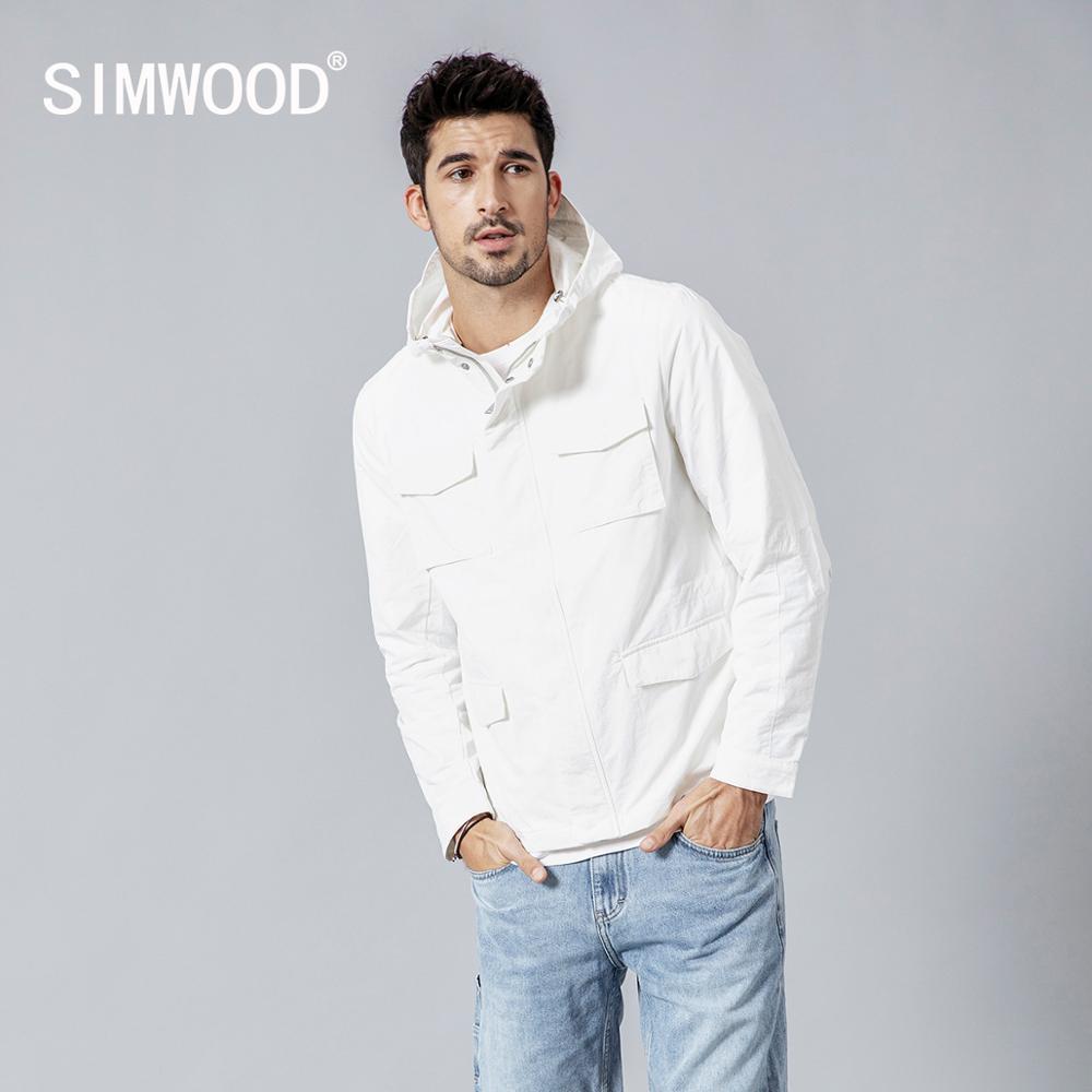 Chaqueta SIMWOOD para hombre 2019 otoño nueva moda abrigos delgados Bomber Slim Fit Plus Size Casual ropa de abrigo cremallera c-in Chaquetas from Ropa de hombre on AliExpress - 11.11_Double 11_Singles' Day 1