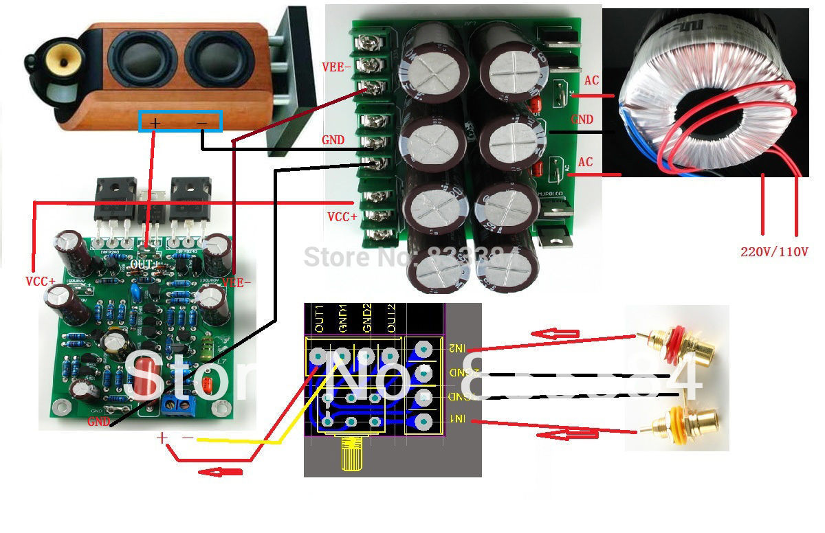Mos Fet Power Lifier 300w Mosfet Amp Ocl Hifi Class Ab By K1530j201 Irfp240 And Irfp9240 Devices Are Used As The Output Pair