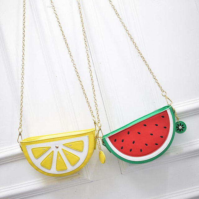 Bolsa Cupcake Women Bag Girl Messenger Bags lemon Women Leather Handbags  Watermelon Clutch Bolsa Feminina Bolsas Feminina 148 9bbbe722db59d