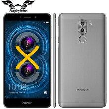 "Original huawei honor 6x4g lte teléfono móvil kirin 655 octa núcleo 5.5 ""3 GB RAM 32 GB ROM de Doble Cámara Trasera 1920 * 1080px Huella Digital"