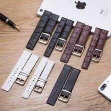 Alta calidad 16mm 18mm 20mm 22mm correa de reloj de cuero genuino suave delgada marrón/correa de reloj caso para ck calvin klein