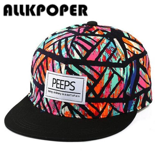 732bd4ebd ALLKPOPER New Fashion PEEPS Baseball Caps Snapback Flat Brim Hat Street  Dance Gift Hip Hop Hats for Men and Women-in Baseball Caps from Men's  Clothing ...