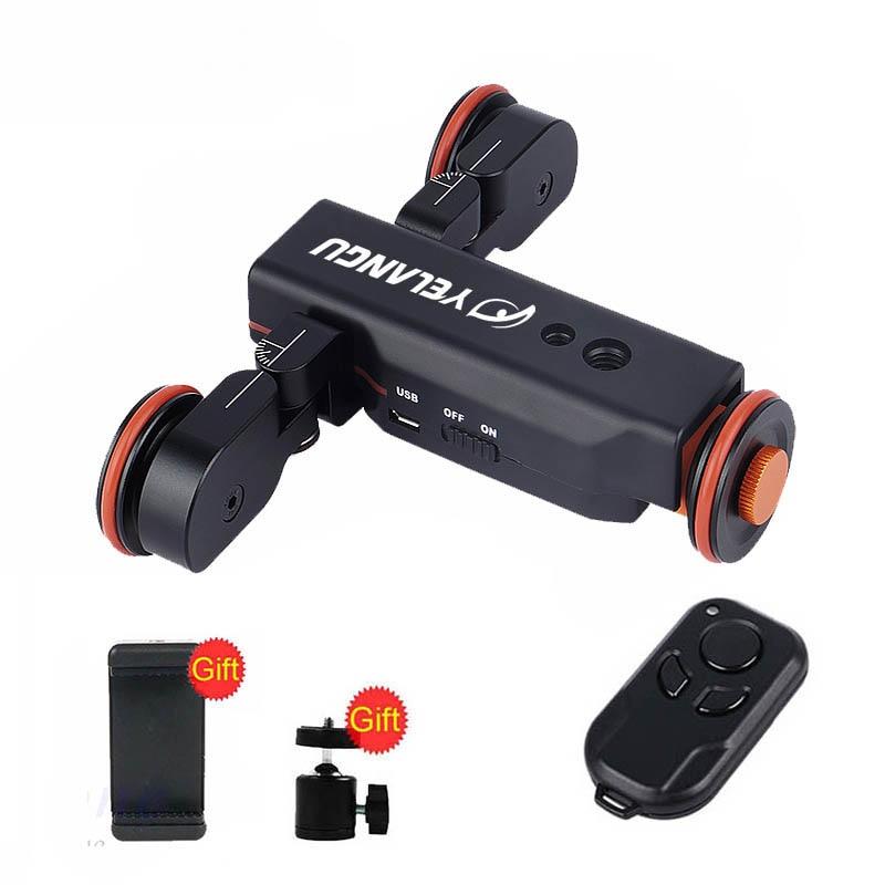 YELANGU L4X Electric Dolly Motoriz Car Rail Track Slider With Remote Control For iPhone Phone Smartphone DSLR Camera Camcorder
