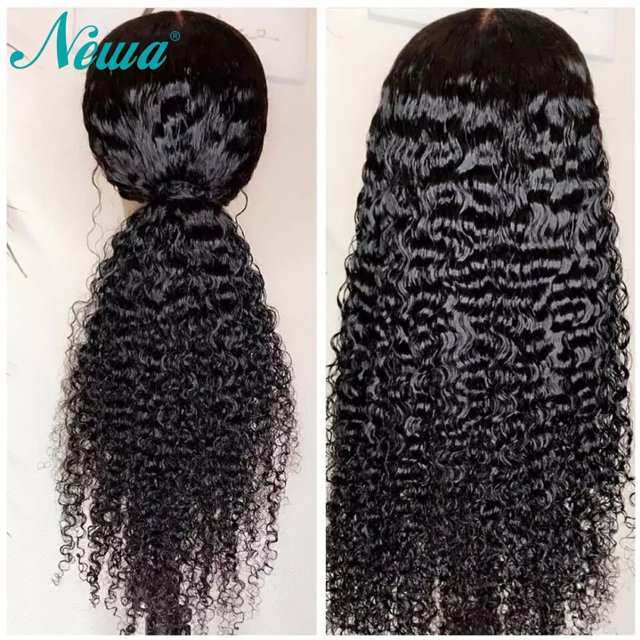 Newa Hair Lace Front Human Hair Wigs Pre Plucked Brazilian Water Wave Lace Front Wigs For