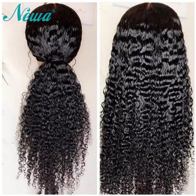Pelucas de pelo humano frontal de encaje pelucas delanteras de encaje brasileño de onda de agua para mujeres negras pelucas de cabello Remy con el pelo del bebé NYUWA