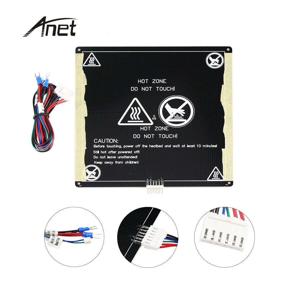 3d Printer Heating Bed Accessories Mk3 Aluminum Substrate Hot Bed 300*200*3mm Hole Sinking Special Summer Sale Computer & Office 3d Printers & 3d Scanners