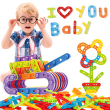 Hot Sale Assembled Strip Building Blocks Toys Children Game Toy Baby Educational Gift for Kids Classic