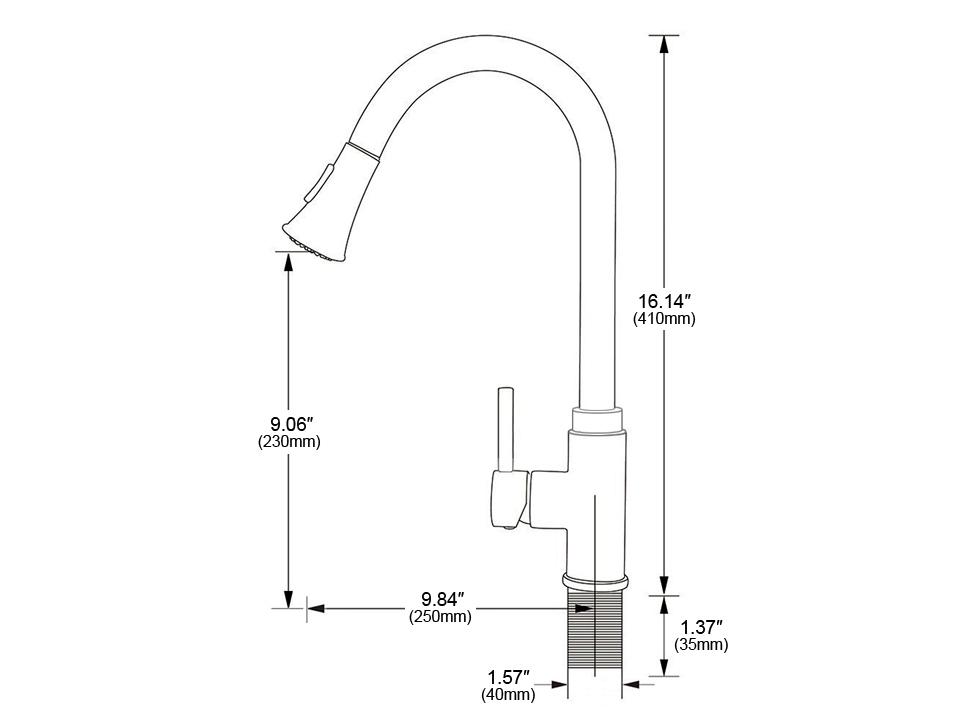 Kitchen faucet F6052