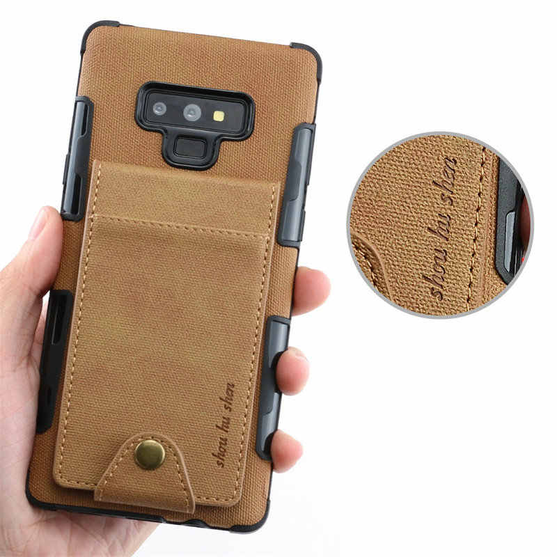 Слот для карт для Coque samsung A50 чехол S10Plus samsung Note9 чехол ткань для samsung Galaxy S10 5G E Note 9 откидная крышка A20 A30 A70