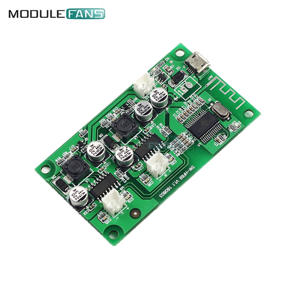 100% Quality Dc 5v 6w+6w 2x6w 2*6w 2 Channel Stereo Bluetooth Amplifier Board Lithium Battery Powered For Speakers Loudspeaker Box Modified To Suit The People'S Convenience