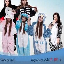 Unicorn adultos Franela Unisex Adultos Animales Pijamas 2017 Caliente Pijama Anime Cosplay Disfraces para adultos-unicornio-pijamas, pijama mujeres