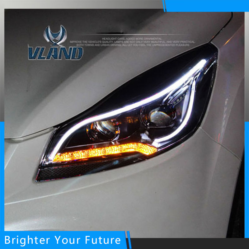 Front Headlight For Ford Kuga 2013 2014 2015 Car Styling LED Headlight Angle Style White Light HID Lamp