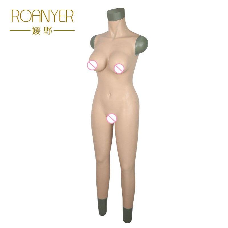 Roanyer transgenres mammaires en silicone formes toute trans corps costumes femelle artificielle seins pénétrable faux vagin pour crossdress