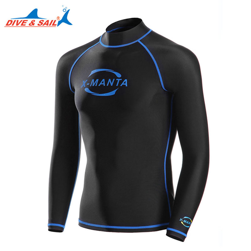 Sunscreen Men Diving Wetsuit Swimwear Equipment Long Sleeve Wetsuit Snorkeling Swimming Jacket Water Sports Dive Surfing Clothes