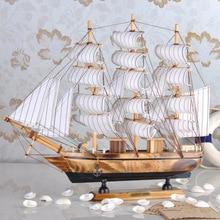 Sailing boat model decoration entrance wooden desktop home crafts