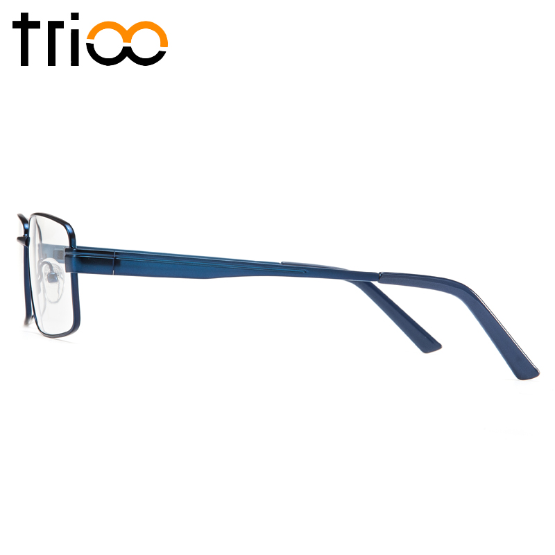 Image 4 - TRIOO Metal Blue Reading Prescription Mens Glasses Graduate Computer Myopia Degree Eye Glasses Square Astigmatism Spectacles-in Men's Prescription Glasses from Apparel Accessories