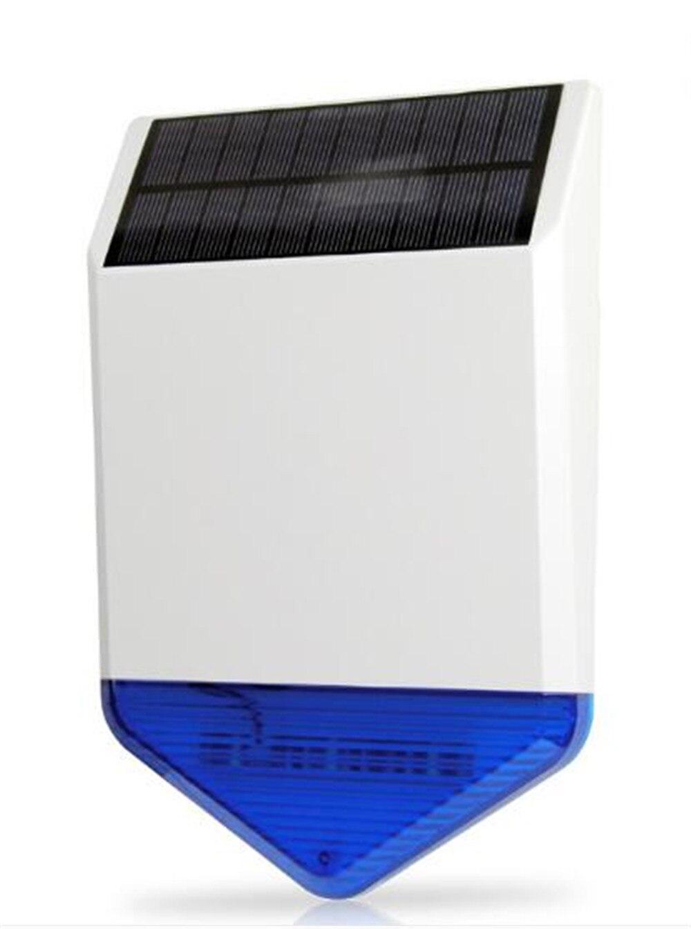 Sirène solaire extérieure étanche à l'eau pour système d'alarme antivol 433 Mhz