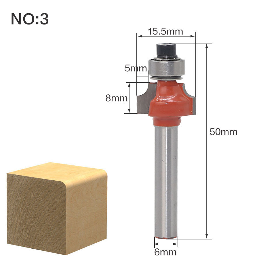 Купить с кэшбэком 1pcs6mm Shank wood router bit Straight end mill trimmer cleaning flush trim corner round cove box bits tools Milling Cutter RCT