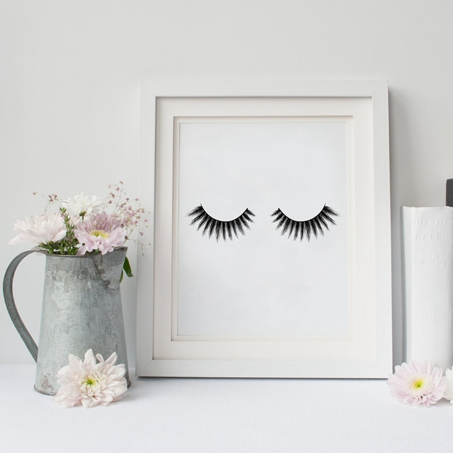Eyelashes Print Wall Art Modern Minimalist Beauty Product Lashes Poster Canvas Painting Room Makeup
