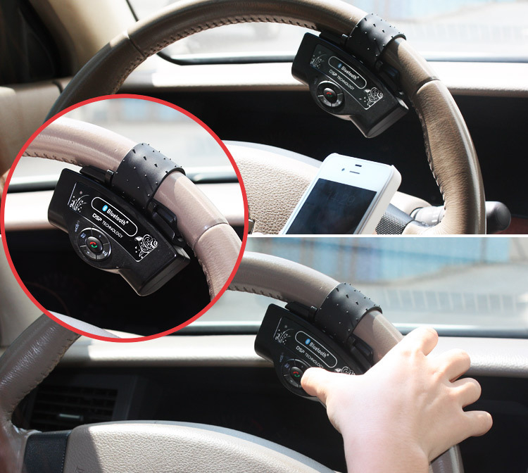 font b Portable b font Parrot Steering Wheel Hands free Auto font b Bluetooth b
