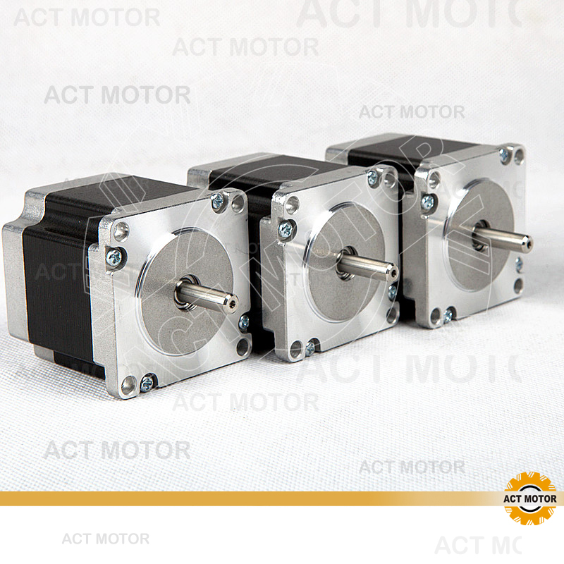 ACT Motor 3PCS Nema23 Stepper Motor 23HS6430 Single Shaft 165oz-in 56mm 3A 4-lead 2Phase CE ROHS ISO CNC Router Kit free ship 3pcs dual shaft nema 23 stepper motor 1 89n m 268oz in 76mm 3a direct selling