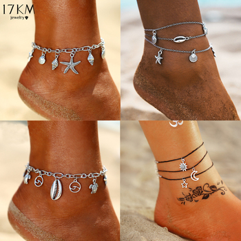New Boho Turtle Pendant Anklets For Women Shell Anklet Bracelets On The Leg Bohemian Foot Ocean Jewelry 1