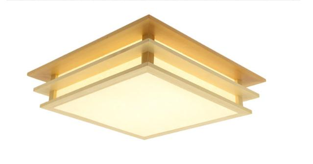 Japanese style Delicate Crafts Wooden Frame tatami led ceiling lights luminarias para sala ceiling lamp