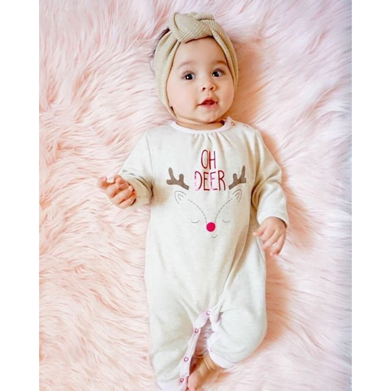 2018 Newborn Baby Girls Wear Pure Cotton Infant Clothing,Christmas Fashion Baby Girls Clothes Kids Rompers 100% Cotton Bodysuit
