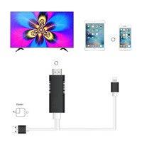 Dla Błyskawicy do HDMI Kabel Dla iPhone 8 Oraz Złącze Cyfrowe AV 6.5Ft 1080 P HDTV Adapter Dla Apple Iphone 7 plus 6 S Ipad mini
