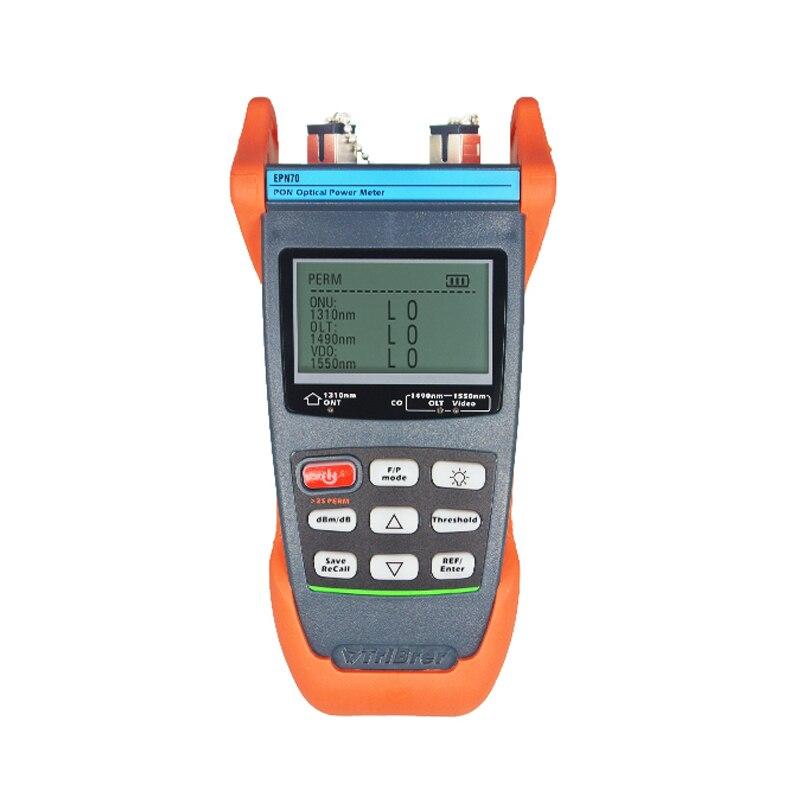 Цифровой Epn70 Одномодовый Pon оптический Мощность метровый кабель тестер измерения с китайского языка ключ