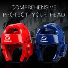 ММА Каратэ Муай Тай кик тренировочный шлем боксерская защита головы TKD головное снаряжение Санда тхэквондо защитное снаряжение
