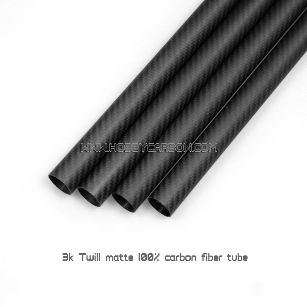 Offres spéciales HCT060 25x23x500mm 3K tube mat en fibre de carbone sergé pour Drones, RC