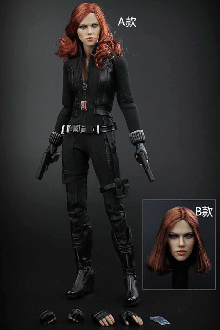 The Avengers Black Widow 1//6 Head Carving Model Fit 12/'/' Action Figure Accessory