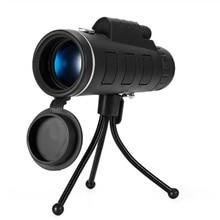 40X60 HD Zoom monocular binoculares viaje al aire libre Trekking se puede utilizar para lente de teléfono de cámara HD monocular para iPhone Huawei