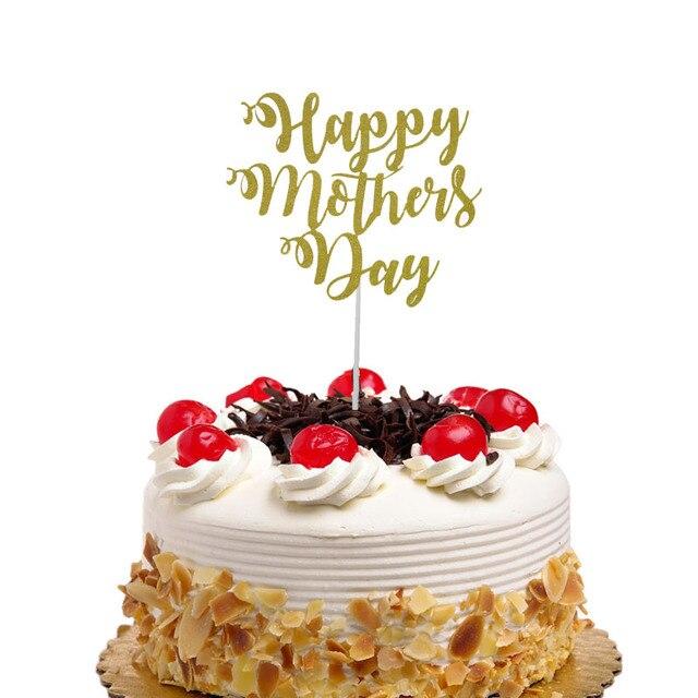 069 9 De Descuentopastel Banderas Feliz Día De La Madre Cupcake Topper Toppers Mejor Mamá Cumpleaños Boda Nupcial Pastel Envoltorio Fiesta