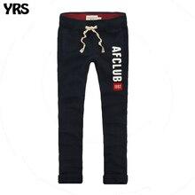 Летние мужские джоггеры 100% хлопок Мужчины Брюки Полная длина вышивка тонкие штаны(China (Mainland))