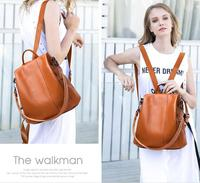 Free Shipping,Brand classic genuine leather backpack,100% cowhide bag.shopping bag.fashion womens backpack.daily casual bag