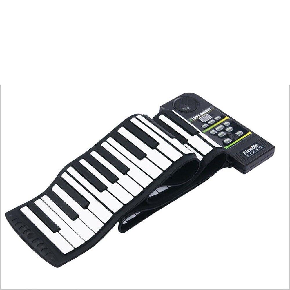 Multi-style Portable 88 clés Silicone Flexible retrousser Piano pliant clavier électronique pour enfants étudiant - 3