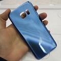Синий Для Samsung Для Galaxy S7 Edge G9350 SM-G935 Назад стекла Задняя Крышка Батарейного Отсека Замена Корпуса С Логотипом и стикер