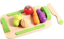 New wooden toy kitchen set vegetables wood baby Free shipping