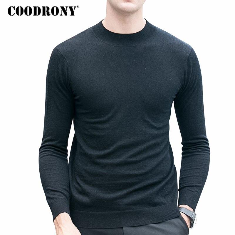 COODRONY Merino Wool Sweater Men Winter