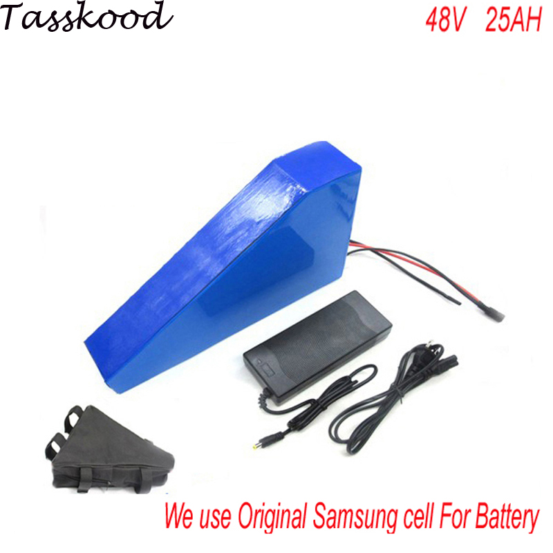 48V 25Ah Samsung electric bicycle battery 48V 25A with free charger 48v 25ah bafang 750w