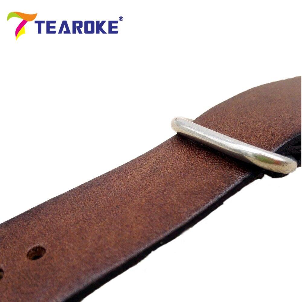TEAROKE ZULU Læderurband NATO Watch Band Strap 18mm 20mm 22mm Sliver - Tilbehør til ure - Foto 6