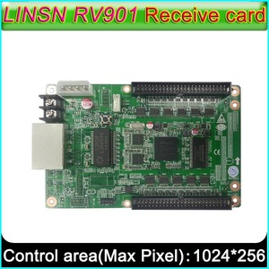 Image 1 - Full color LED display screen controller, LINSN RV901 Receiving card, Universal interface suitable for all kinds of HUB board