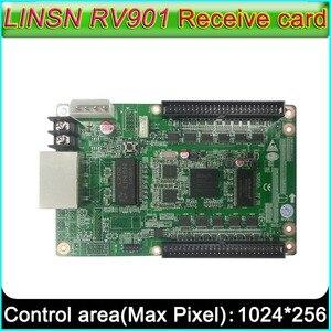 Image 1 - Full color LED scherm controller, LINSN RV901 Ontvangende kaart, universele interface geschikt voor allerlei HUB board