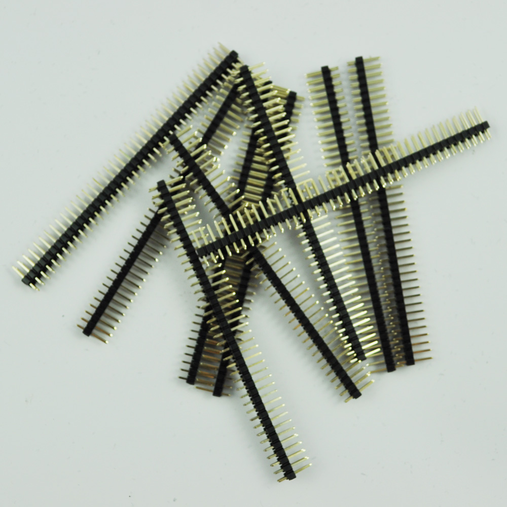 High Quality 10 Pcs 2x40 Pin 2.54mm Pitch Double Row PCB Pin Headers футболка wearcraft premium slim fit printio русский космонавт
