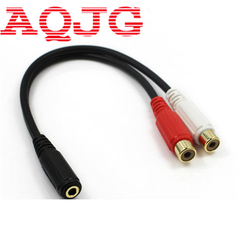 Audio Cable Stereo 3.5mm Female to 2 RCA(Phono) Female Y Adapter Cord Jack 3 5mm plug jack female to 2 male stereo headphone audio wire extension cable y adapter spliter connector