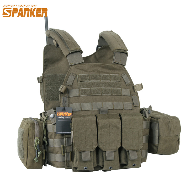EXCELLENT ELITE SPANKER Outdoor 6094 Tactical Combat Vests Camouflage Military Vest Jungle Hunting Molle Nylon Vests Equipment