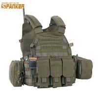 EXCELLENT ELITE SPANKER Outdoor 6094 Tactical Combat Vests Camouflage Military Vest Jungle Hunting Molle Nylon Vests Equipment