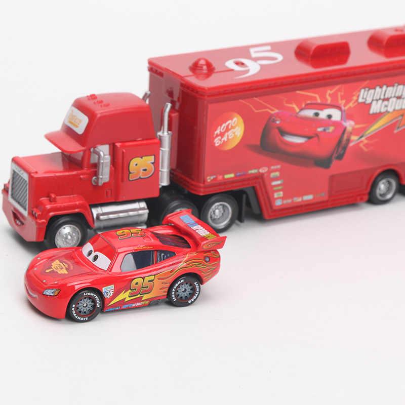 4-21 см Disney Pixar Тачки 2 игрушки Молния Маккуин Мак дядюшка TruckThe король ЧИК ХИКС 1:55 литая под давлением модель автомобиля игрушка для детей подарок для мальчика